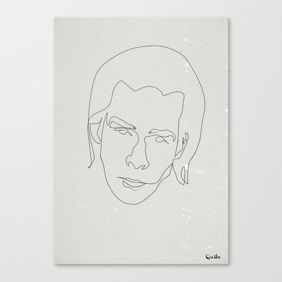 One line Nick Cave Canvas Print