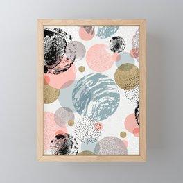 Circles texture Framed Mini Art Print