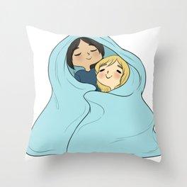 yumikuri | cuddles Throw Pillow