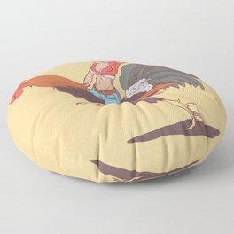 Girl Riding a Cock Floor Pillow