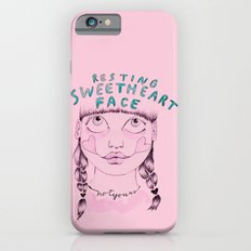 Resting sweetheart face iPhone 6 Slim Case