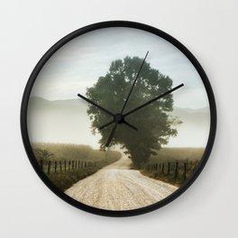 Cades Cove Tree of Life Landscape Photograph Gatlinburg Tennessee Wall Clock