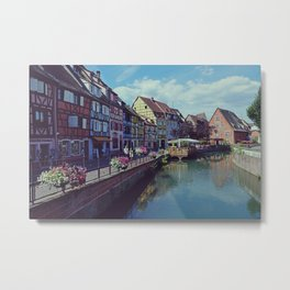 Petit Venise in Colmar, Alsace, France, Travel Photography Metal Print