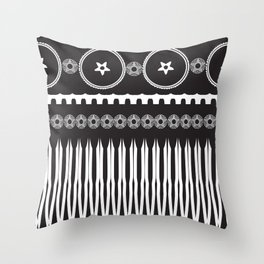 Black and white pattern 5 Throw Pillow