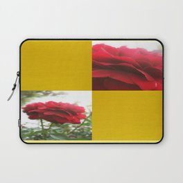Red Rose with Light 1 Blank Q7F0 Laptop Sleeve