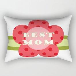''best Mom'' flower medal - Mother's Day gift idea Rectangular Pillow