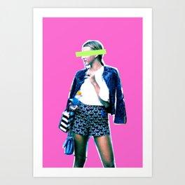Neon Fashion Week Art Print