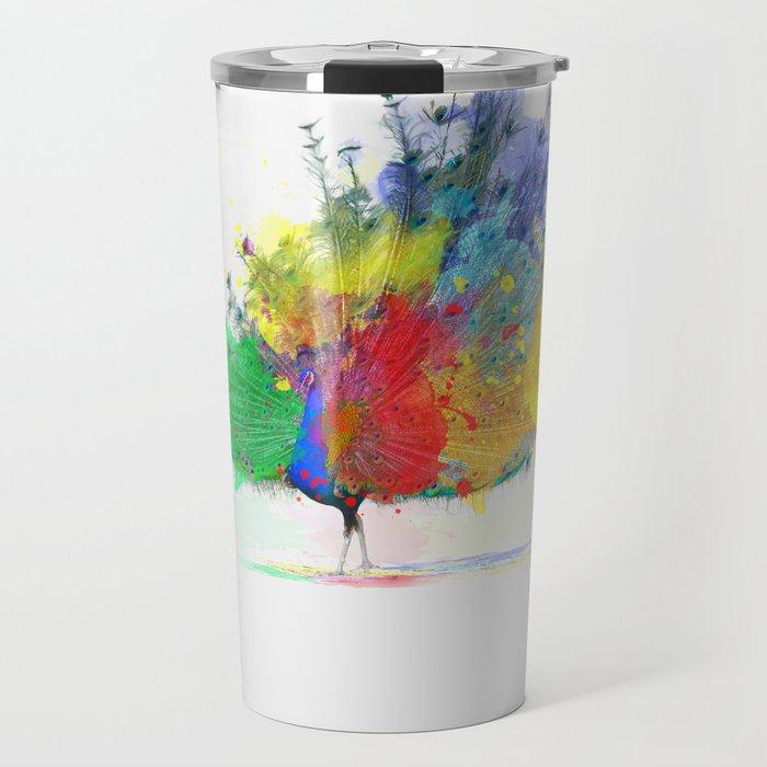 Peacock Colorful Travel Mug