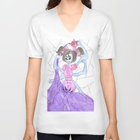 suits V-neck T-shirts featuring purple suits you dear! by sommer bommer
