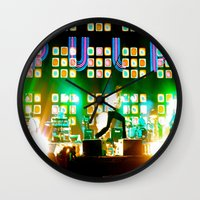 coachella Wall Clocks featuring PULP in Coachella by The Electric Blue / Yen-Hsiang Liang (Gr