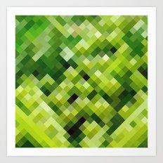 Green diamond pattern Art Print