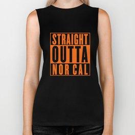 Straight Outta Nor Cal Oakland San Francisco Northern California T-Shirts Biker Tank