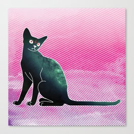 Space cat from hell Canvas Print