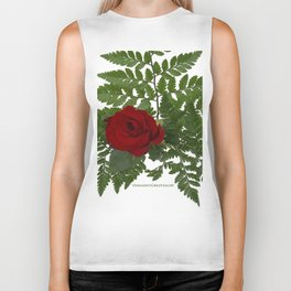 Rose in Winter Biker Tank