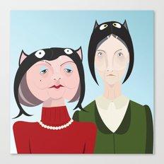 Cat Hats: Portrait 1 Canvas Print