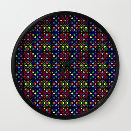 Kente Cloth Ankara Stained Glass Pattern II Wall Clock