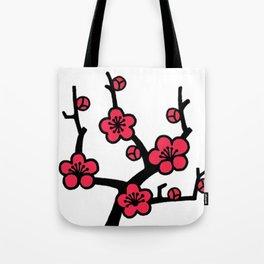 Japanese Plum Tree Tote Bag