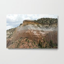 "Mesas of New Mexico in ""Dreamcicle"" Color Metal Print"