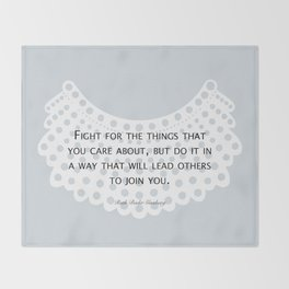 Fight, Lead - RBG (blue) *also in grey Throw Blanket