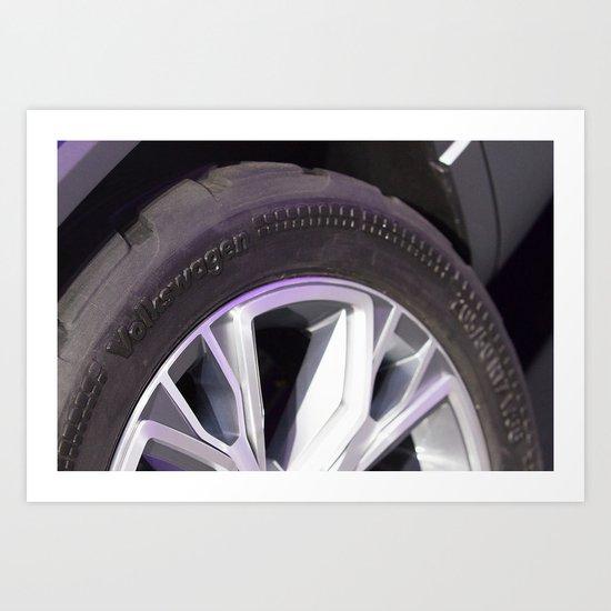 Volkswagen Taigun tire Art Print