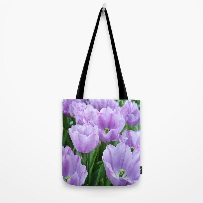 Mauve tulips Tote Bag