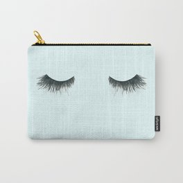 Dramatic dreaming in blue  \\ lashes, closed eyes, sleeping design for bedroom Carry-All Pouch