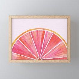 Sunny Grapefruit Watercolor Framed Mini Art Print