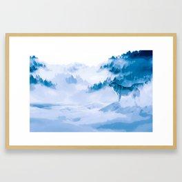 Mountain Wolves Framed Art Print