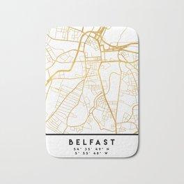 BELFAST UNITED KINGDOM CITY STREET MAP ART Bath Mat