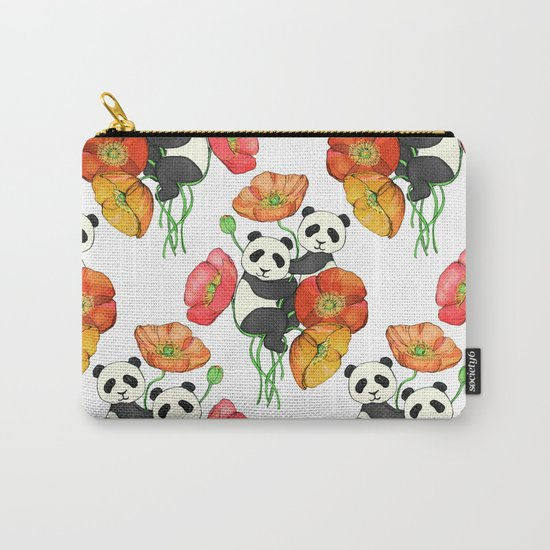 Poppies & Pandas Carry-All Pouch