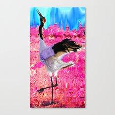 tall bird Canvas Print