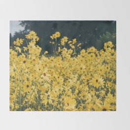 Daisies For Days Throw Blanket