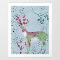 Bramble Stag Art Print