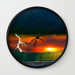 Lightening Beach Wall Clock