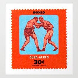 Boxeo-Cuba Art Print