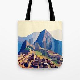 Geometric Machu Picchu, Peru Tote Bag
