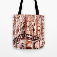 Lovers Diner Tote Bag