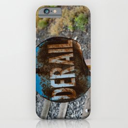 Derail at Steamtown Rail Yard Scranton Safety Railroad Safety Equipment iPhone Case