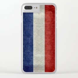 Flag of France, Bright retro style Clear iPhone Case