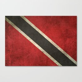 Old and Worn Distressed Vintage Flag of Trinidad and Tobago Canvas Print