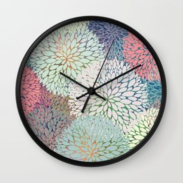 Abstract Floral Petals 3 Wall Clock