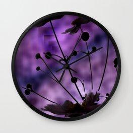 purple shadow Wall Clock