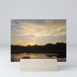 Sunrise on the lake Mini Art Print