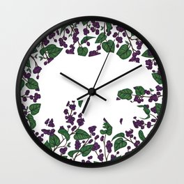 Saskatoon Berries Bear Wall Clock