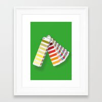 pantone Framed Art Prints featuring PANTONE by VincenzoRusso