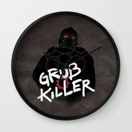 Grub Killer (Red) Wall Clock