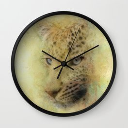 Leopard Watercolor Painting Wall Clock