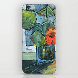 Bloom in a Blue Vase iPhone Skin
