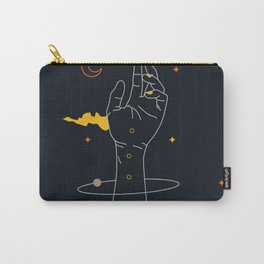 Space hand abstract space universe vintage art Carry-All Pouch