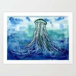 Emperor Jellyfish Art Print